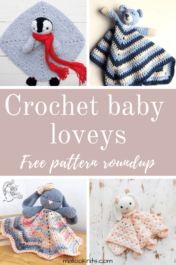 Crochet baby loveys free pattern roundup. This is day 4 of the 7 days of freebies series.