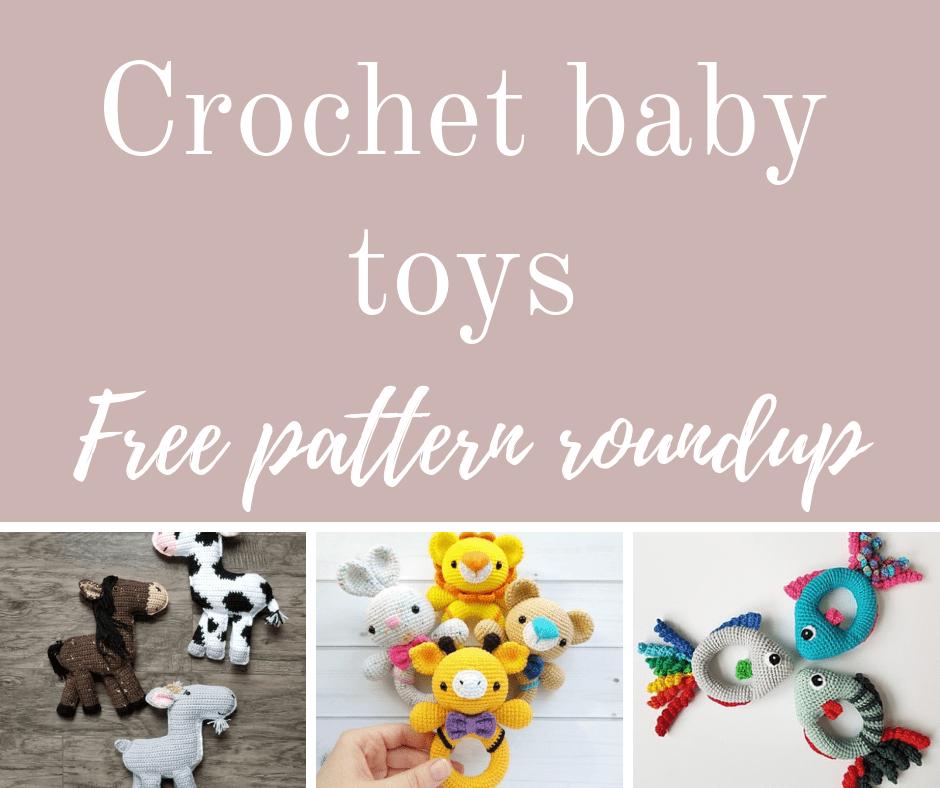 Crochet baby toys free pattern roundup.