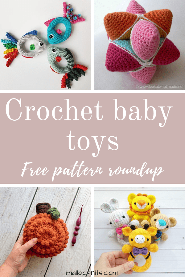 Crochet baby toys free pattern roundup. This is day 6 of the 7 days of freebies series.