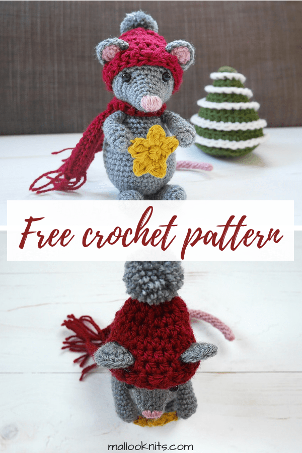 Easy crochet mouse pattern. Free crochet amigurumi mouse pattern.