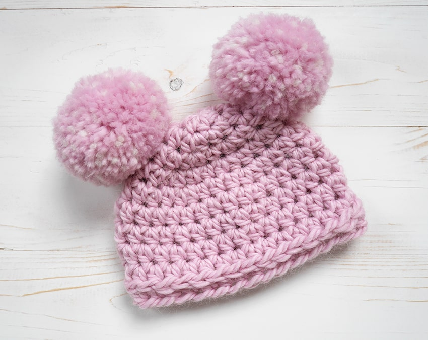 Crochet beginner newborn hat.