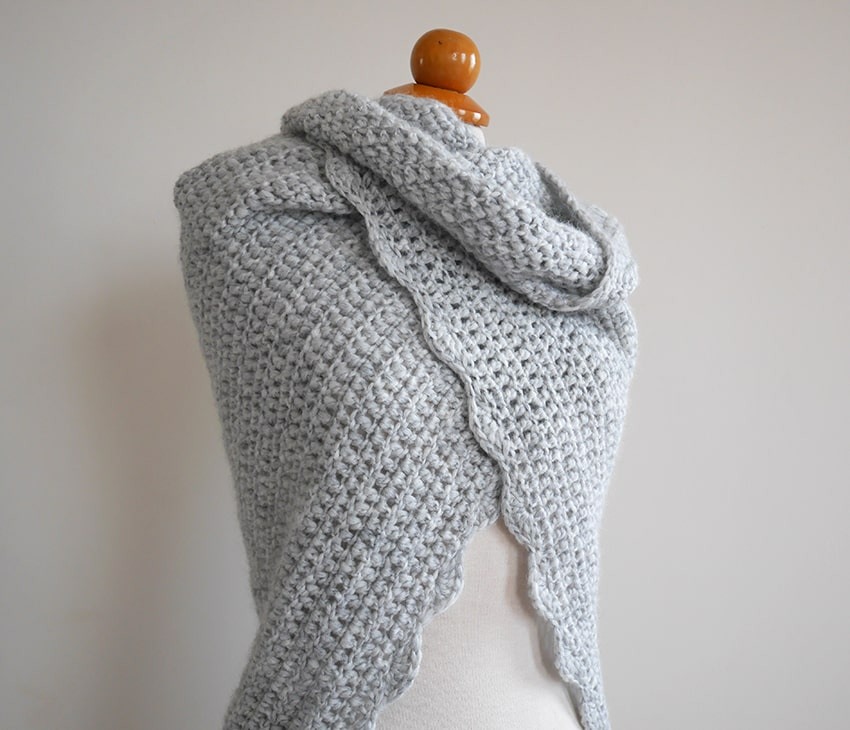 How to sew a triangle poncho