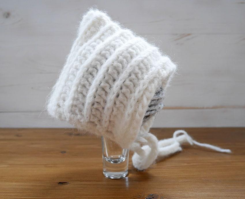 Free Crochet Baby Bonnet Pattern Mallooknitscom