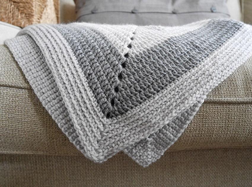 Vintage Crochet Granny Square Baby Blanket Mallooknits Com