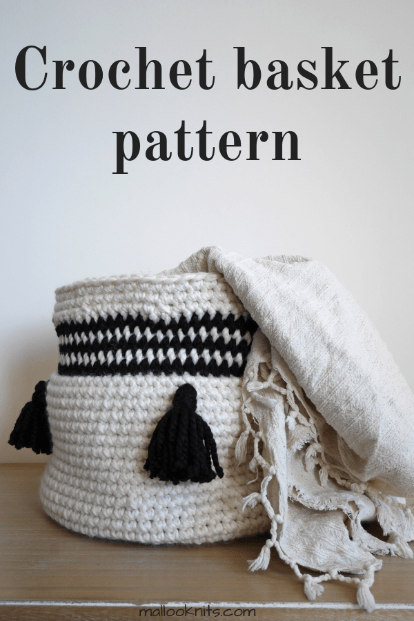 Easy crochet basket pattern. Extra large crochet basket, excellent for nursery storage. #crochetbasketpattern #nurserystorage