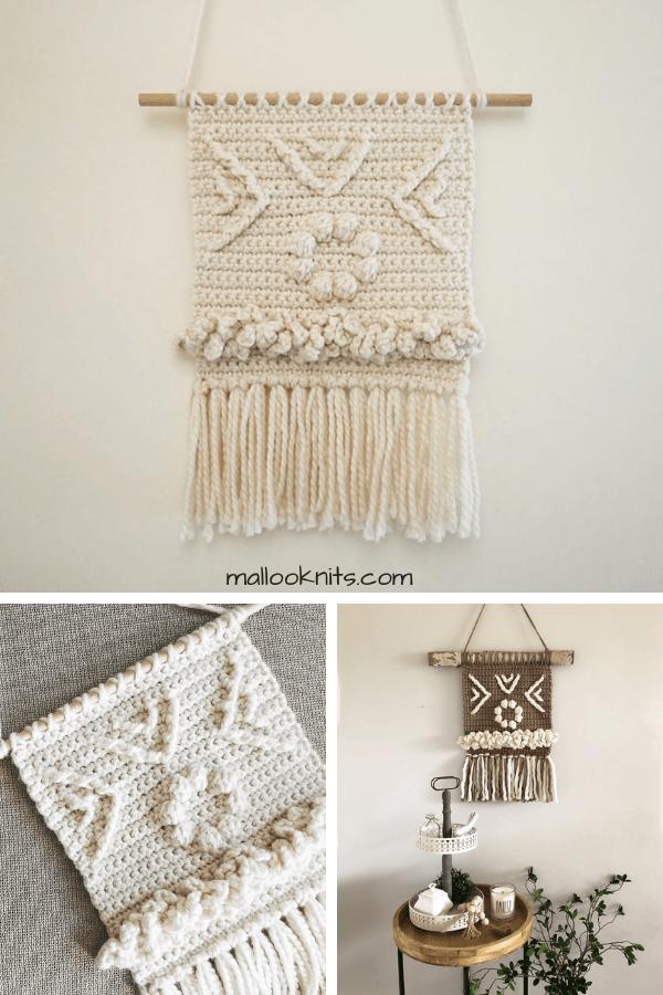 Crochet wall hanger pattern #wallhanger #crochetpattern #crochetwallhangingpattern