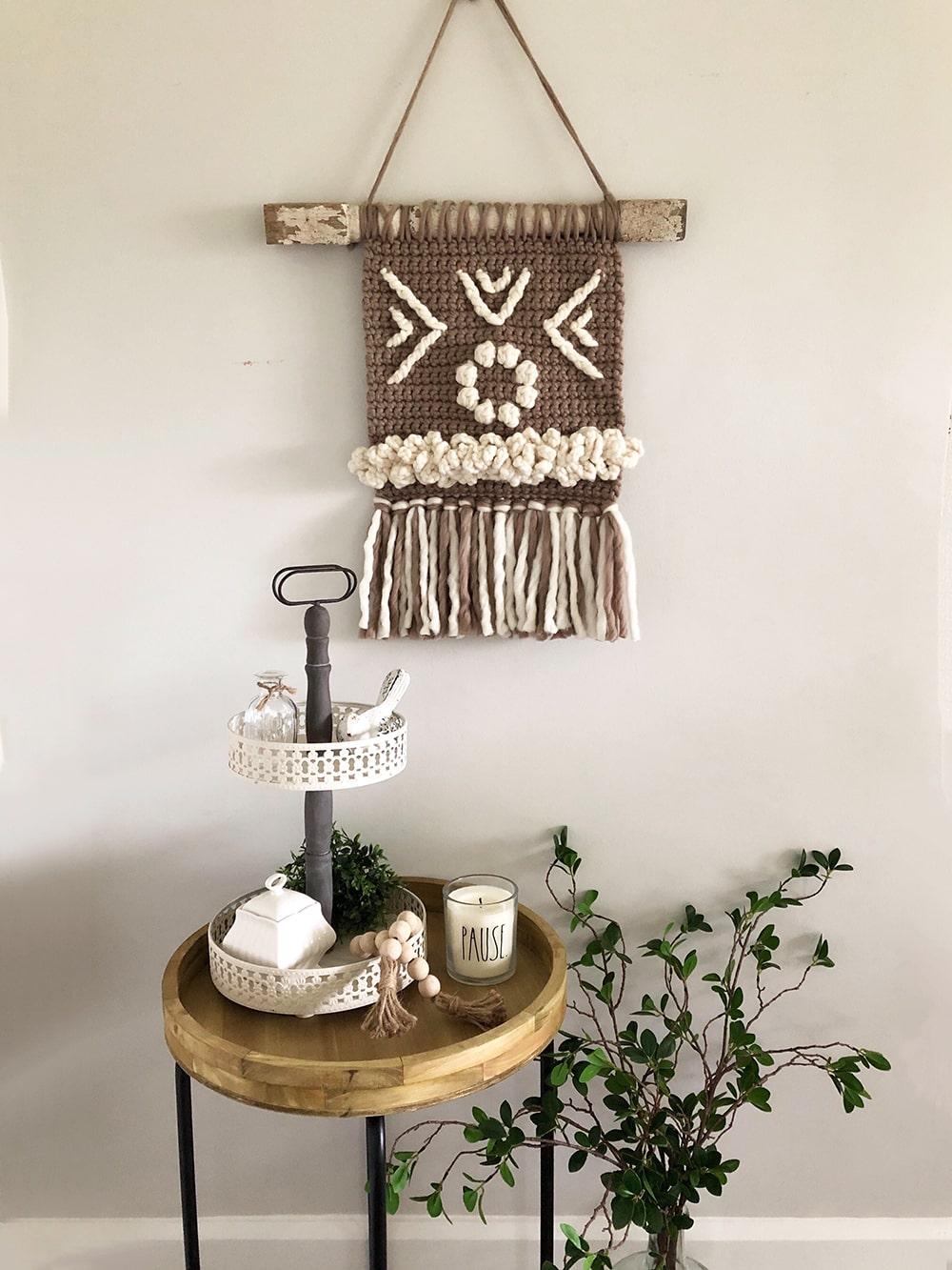 Wall hanging crochet pattern