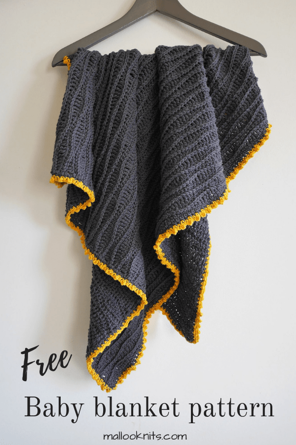 Free baby blanket crochet pattern. Create this full of texture crochet baby blanket with the basic crochet stitches you probably already know.
