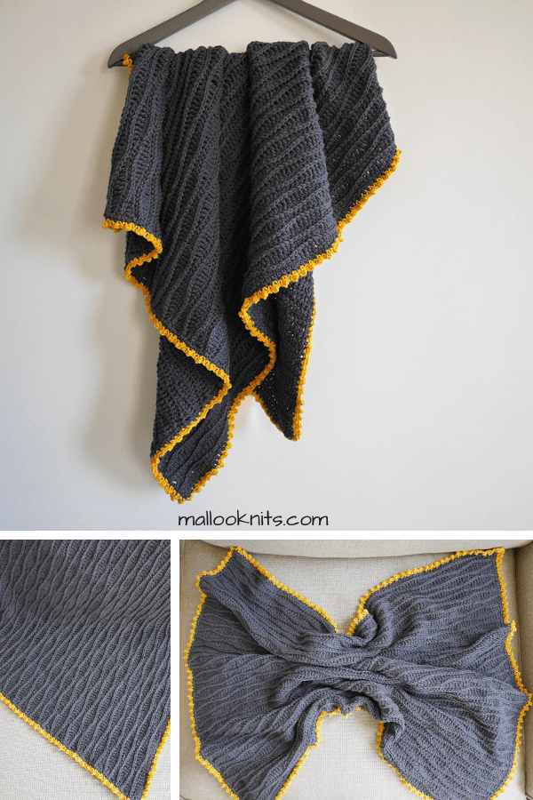 The calm dreams crochet baby blanket is created by repeating the basic crochet stitches. Free crochet baby blanket pattern available with instructions to make it in just about any size!