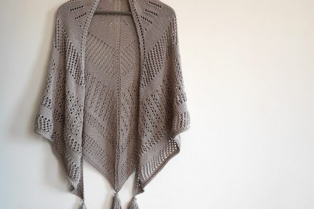 Clivia knit shawl