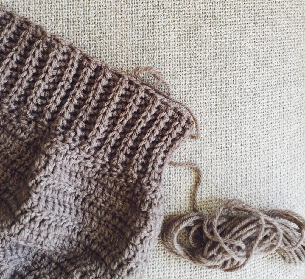 Crochet ribbing yarn over slip stitch