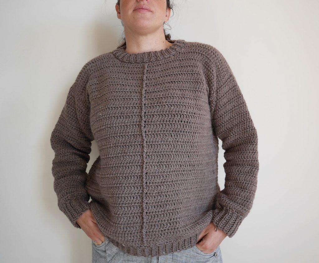 Crochet sweater pattern for the advanced beginner