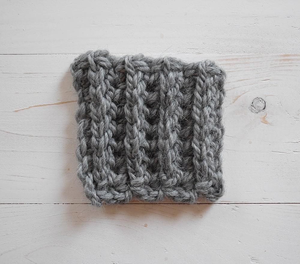 Back post single crochet or front post single crochet ribbing