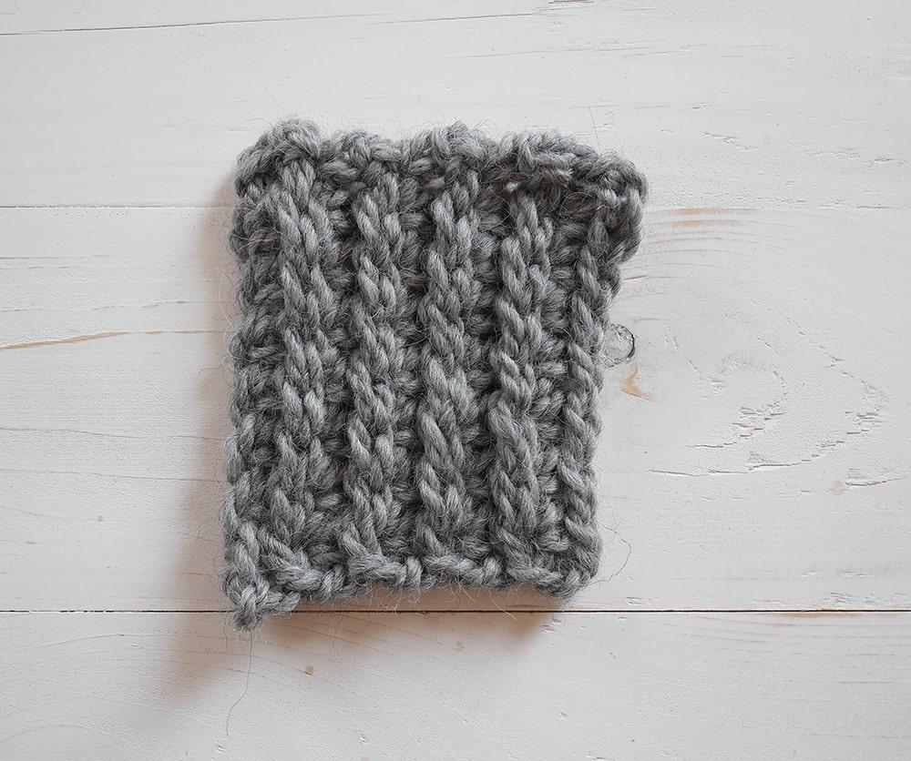 Single crochet in third loop only ribbing