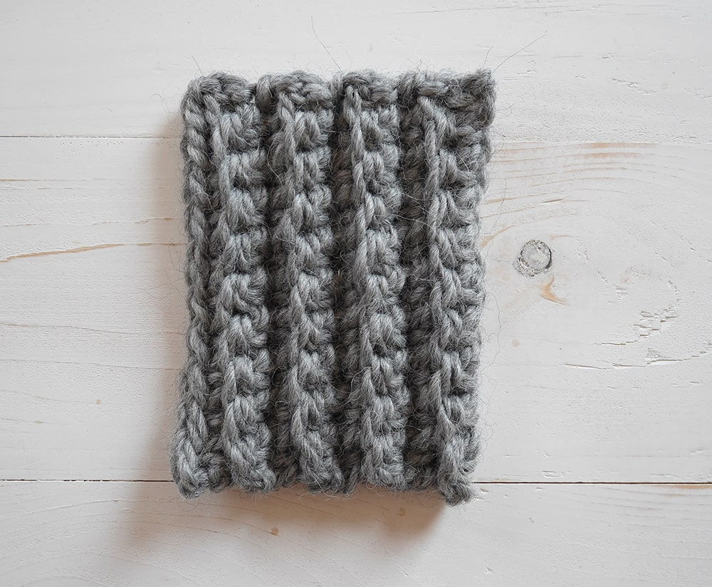 Single crochet in the back loop only, crochet ribbing tutorial