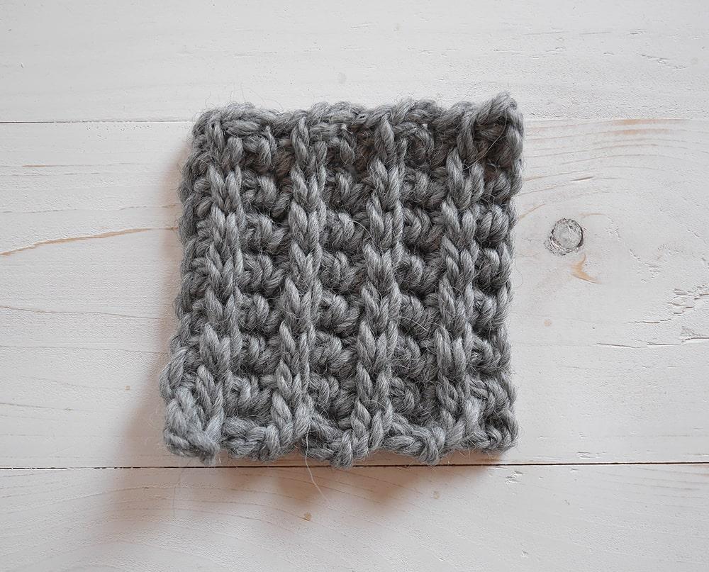 Single crochet and slip stitch ribbing crochet tutorial