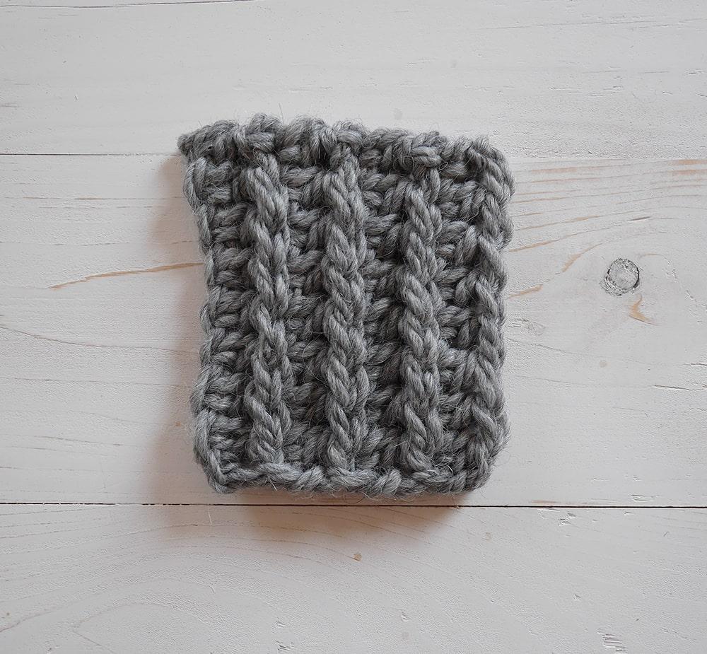 Half double crochet and slip stitch crochet tutorial, ribbing tutorial, knit-like ribbing