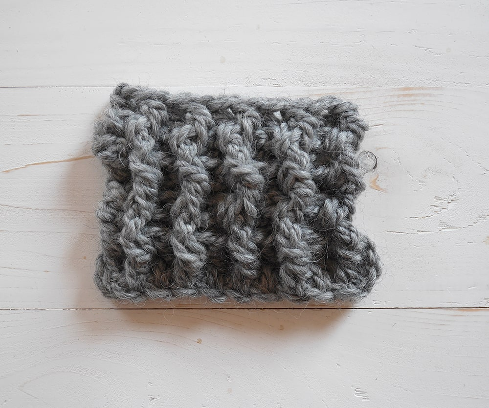 Crochet ribbing tutorial, front post double crochet-back post double crochet