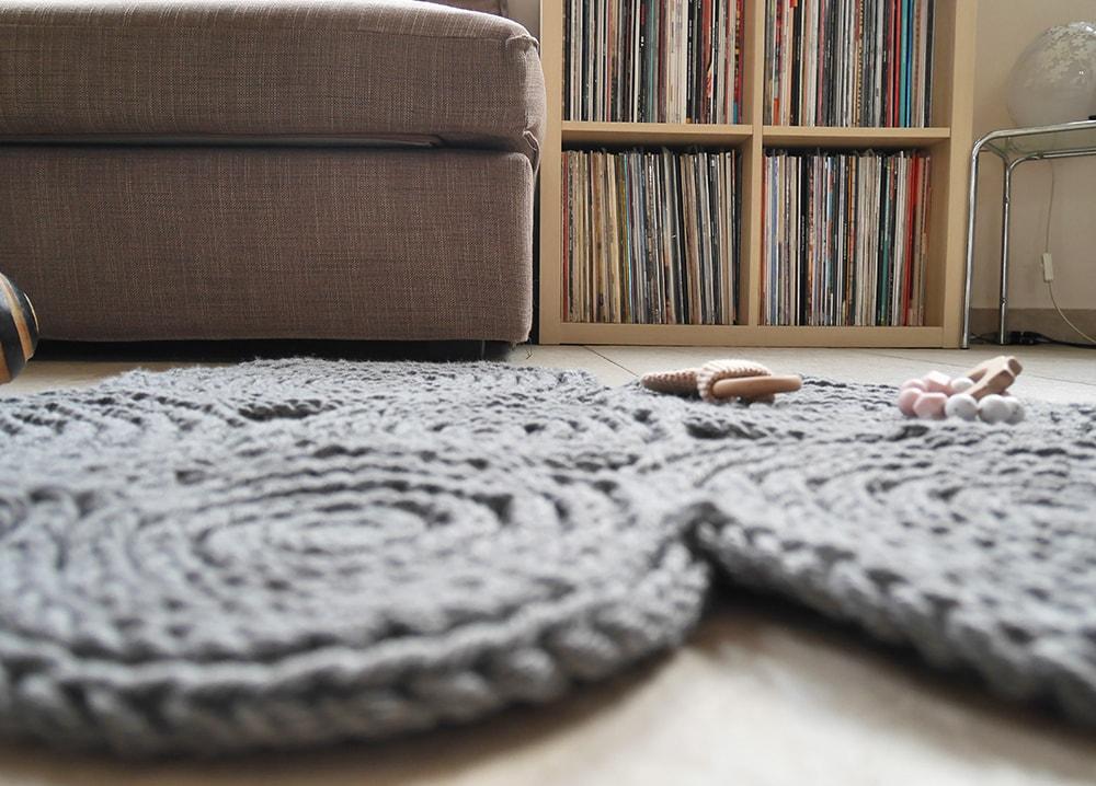 Crochet cloud rug nursery decor