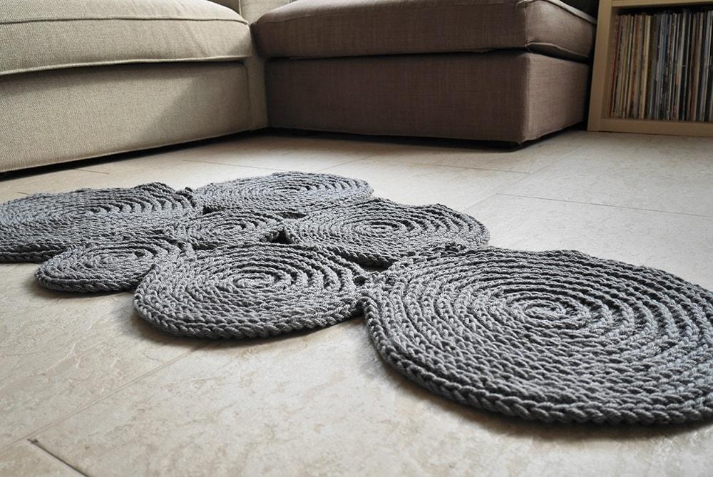 Crochet cloud rug pattern