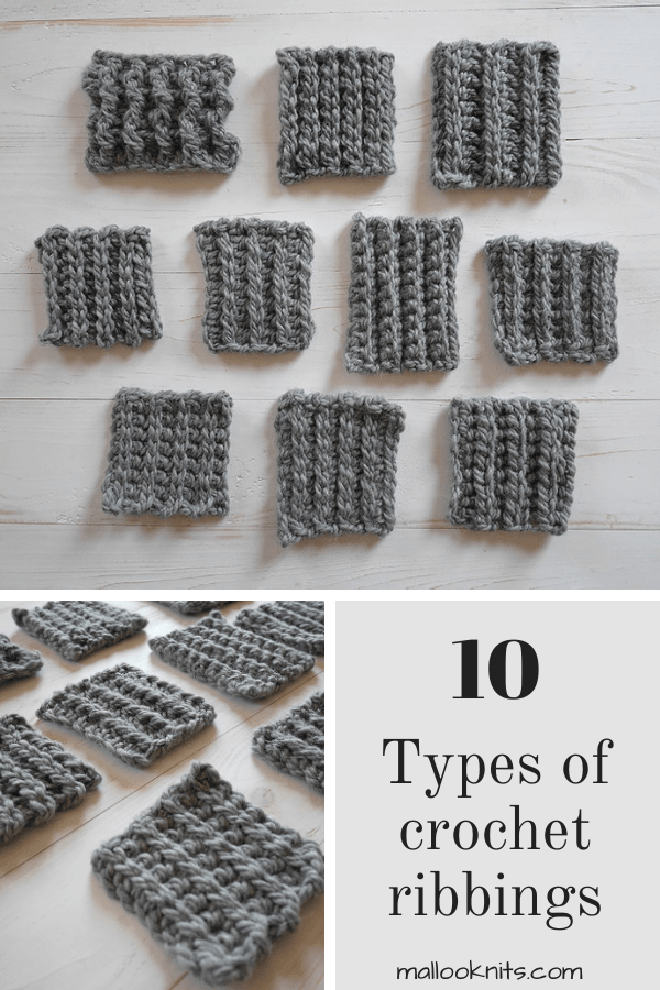 Do you know how many ways there is to crochet ribbing? You can learn 10 different techniques with this crochet tutorial that covers everything. #crochetribbing #sweaterribbing#beanieribbingtutorial