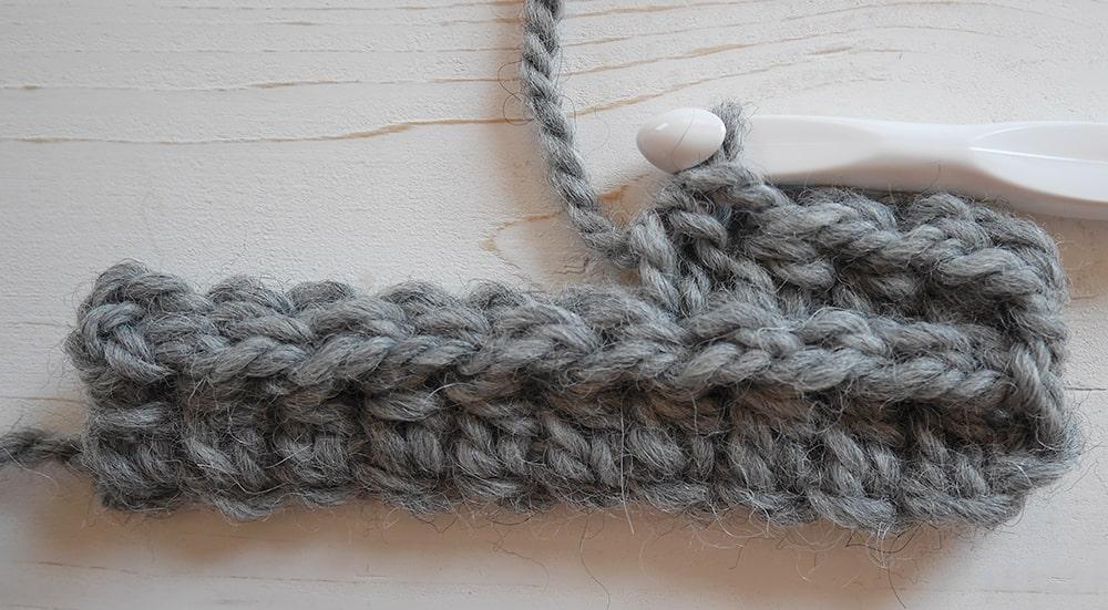 Half double crochet and slip stitch ribbing tutorial