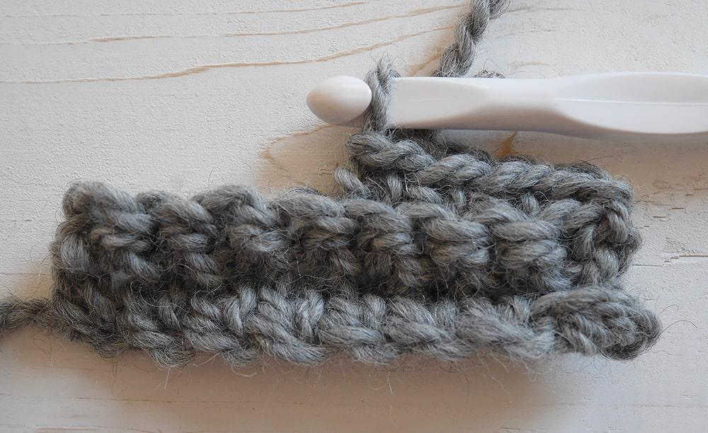Single crochet in back loops only tutorial