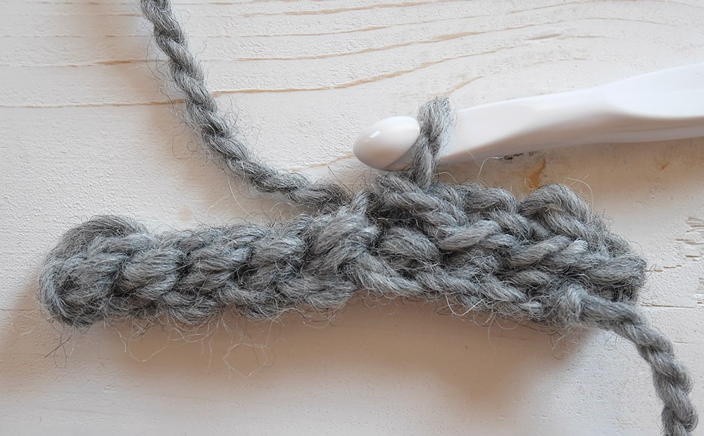 Crochet ribbing tutorial yarn over slip stitch in the third loop front
