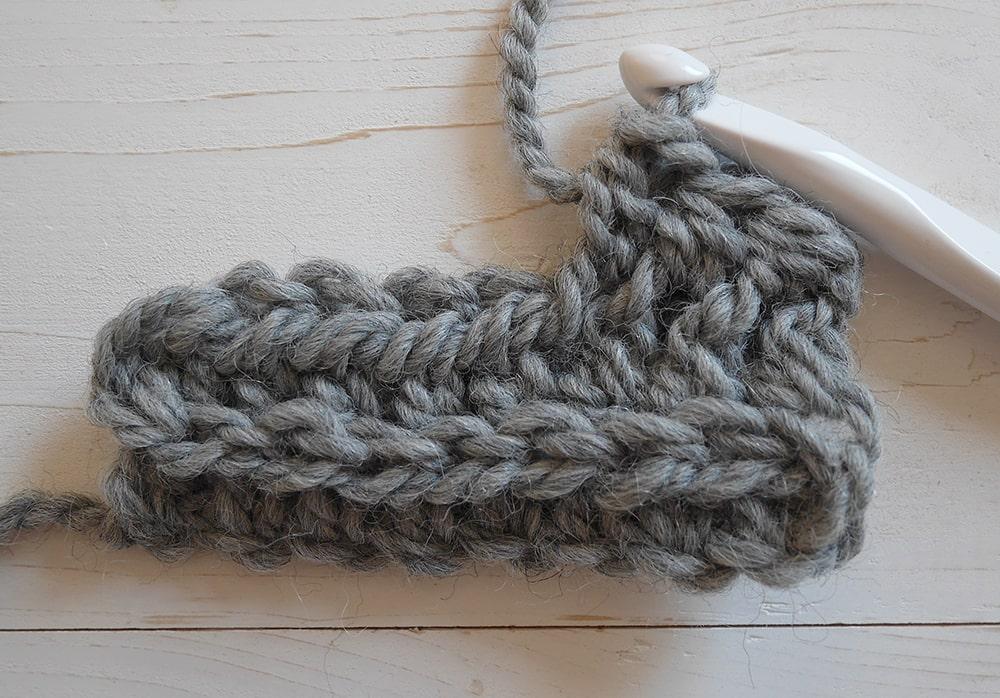 Half double crochet in the third loop tuotrial