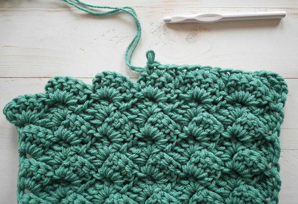 Even edging for crochet