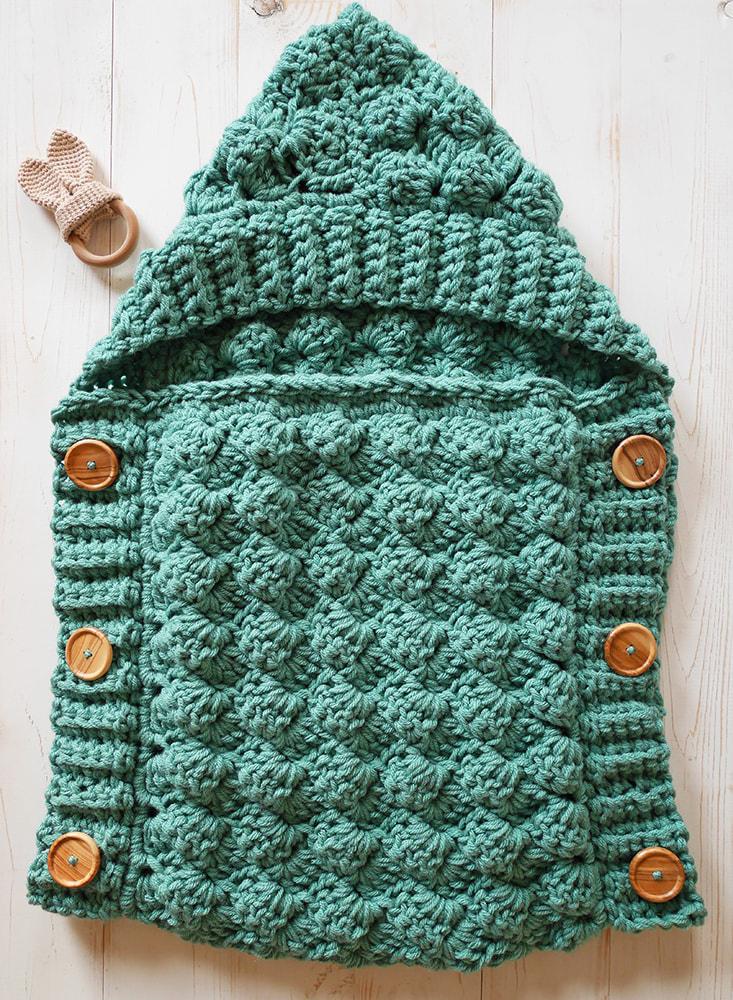 Crochet baby sleeping bag pattern