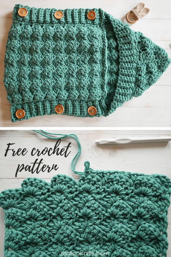Free crochet baby sleeping bag pattern.