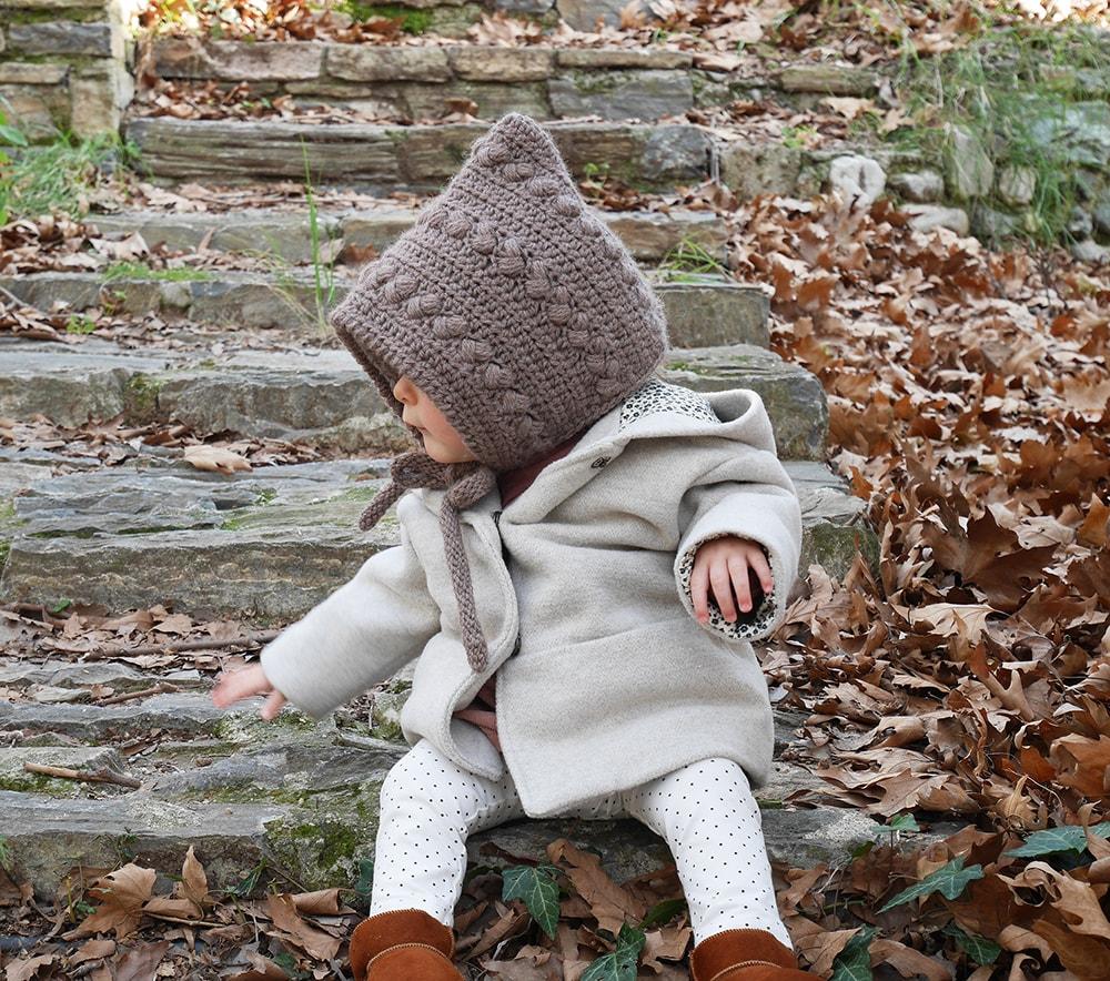 Crochet baby pixie hat