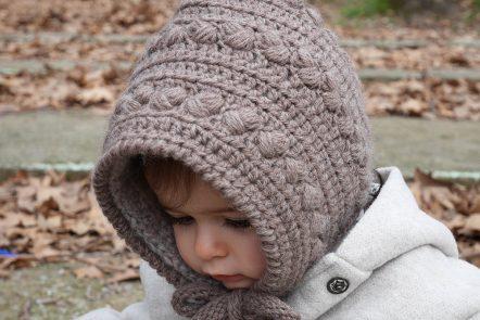 Crochet girl pixie hat