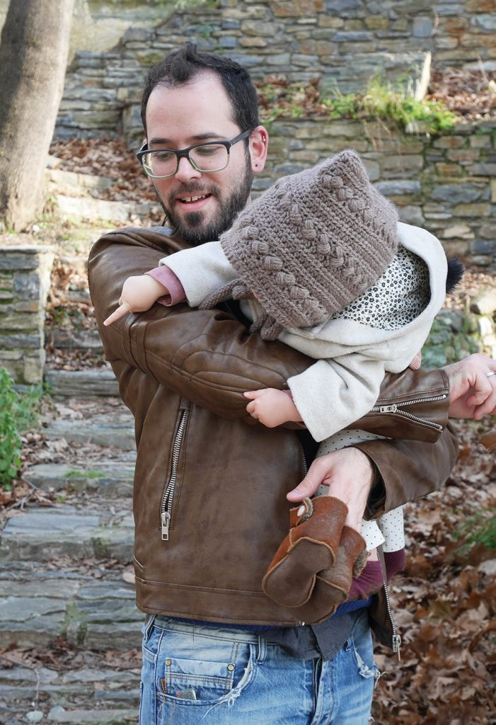 Crochet pixie hood