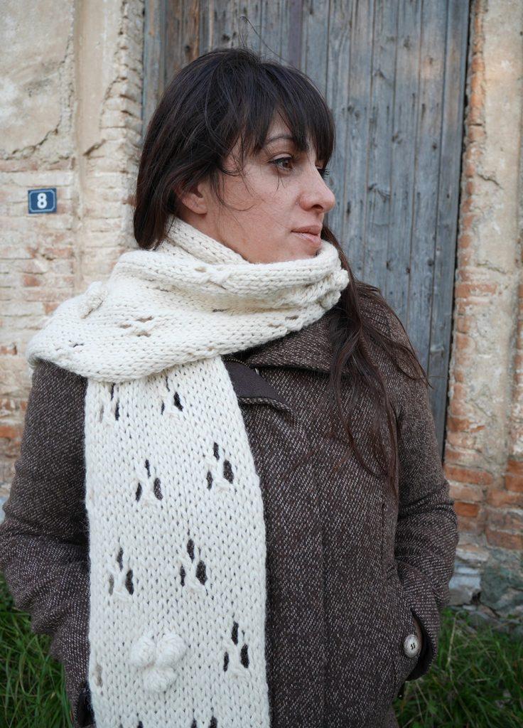 Knit lace scarf pattern