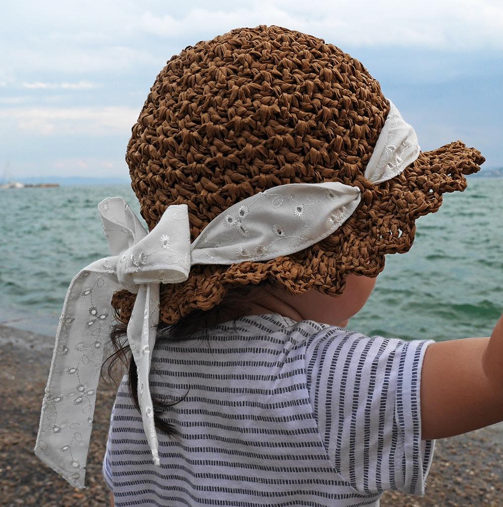 Crochet raffia hat free pattern