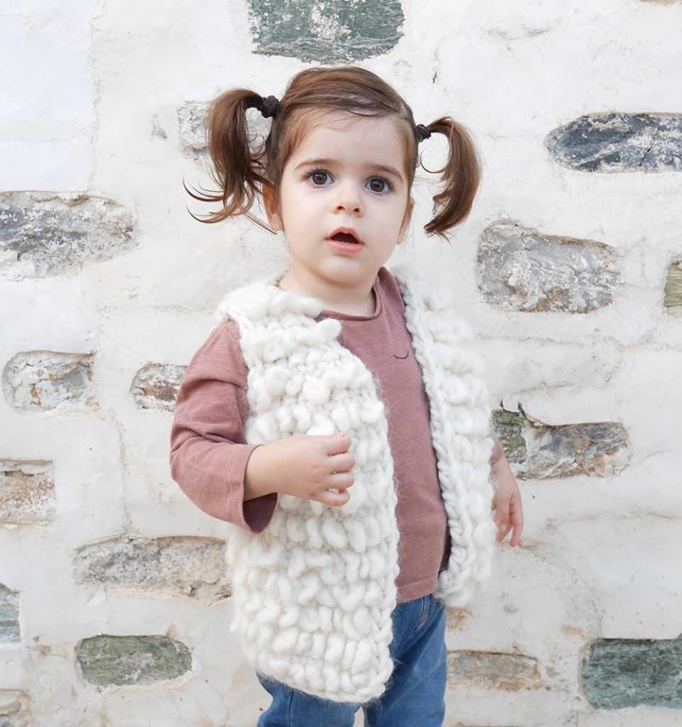 Crochet girls' vest pattern