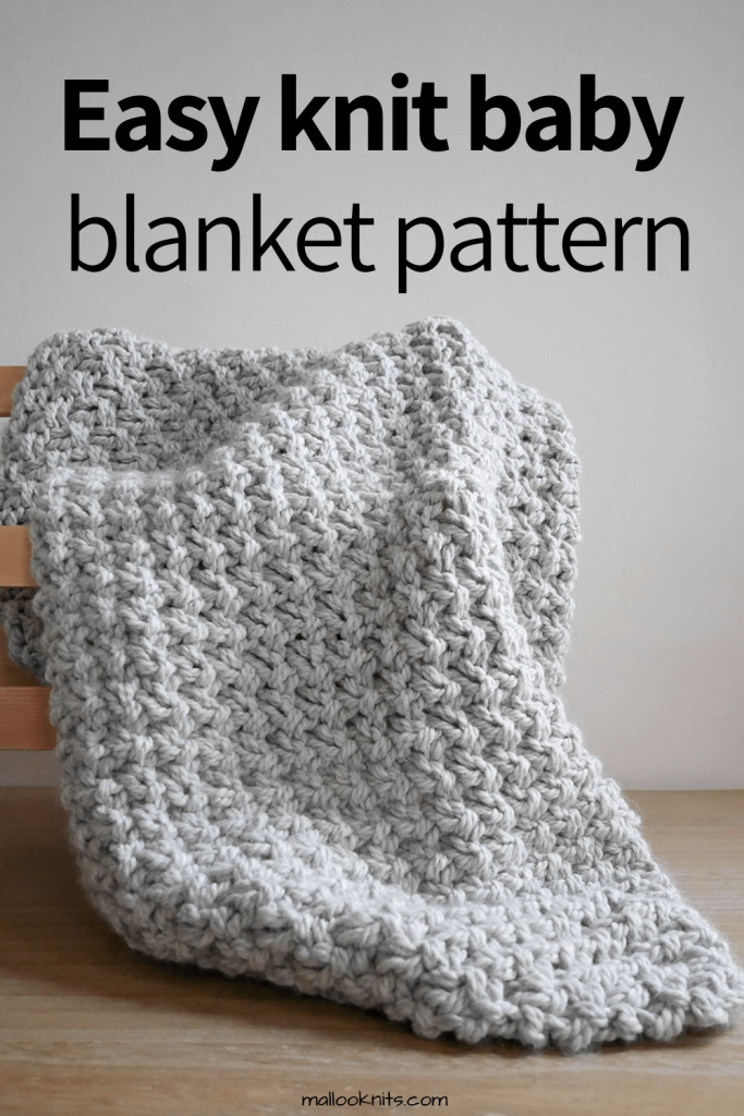 Easy knitted baby blanket pattern. Are you in desperate need of a pattern to just sit down and enjoy while you are watching your favorite show? Look no further! This chunky knit blanket is so beginner friendly that someone could actually learn how to knit with this pattern. #easyknitpattern #knittingpattern #chunkyknitblanket