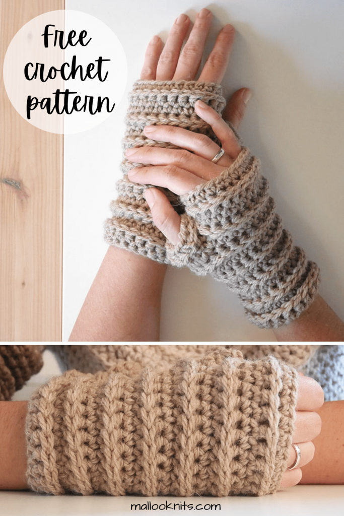 Easy crochet fingerless gloves pattern.  Those armadillo-like crochet mittens are perfect for those chilly spring nights out.