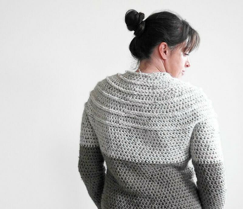 Suéter de crochê