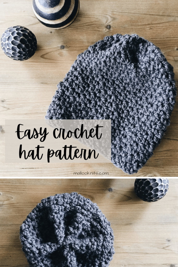 Super simple and easy free crochet slouchy hat pattern. No ribbing, no shaping, just texture! #freecrochethatpattern #crochetslouchyhat #crochetpatternhat